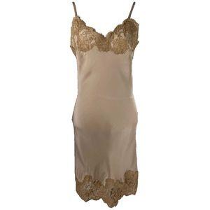 marilyn lace silk slip dress by gold hawk